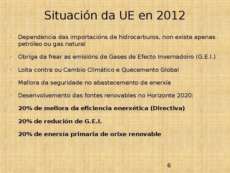 Estratexia europea 2020 en enerxía e clima
